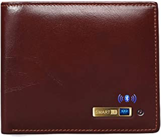 $38 » Smart LB Anti-Lost Bluetooth Wallet with Alarm, Position Record (via Phone GPS), Multi-Functional Bifold Cowhide Leather P...