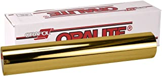 ORACAL 351 Gold Chrome Metallic Vinyl Wrap Roll 12 Inches x 24 Inches