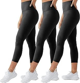 High Waisted Tummy Control Soft Plus Size & One Size Capri Leggings Elastic Opaque Slim