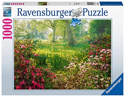 Ravensburger Puzzle, Puzzle 1000 Pezzi, Prato fiorito in Primavera, Puzzle Adulti, Puzzle Paesaggi, Puzzle Ravensburger - Stampa di Alta Qualità