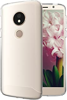 Moto G6 Play Case, TUDIA [Arch S Series] Slim-Fit Heavy Duty Flexible Soft TPU Protective Shock Absorption Phone Case Cover for Motorola Moto G6 Play, Moto (G Play 6th Generation) - Frosted Clear