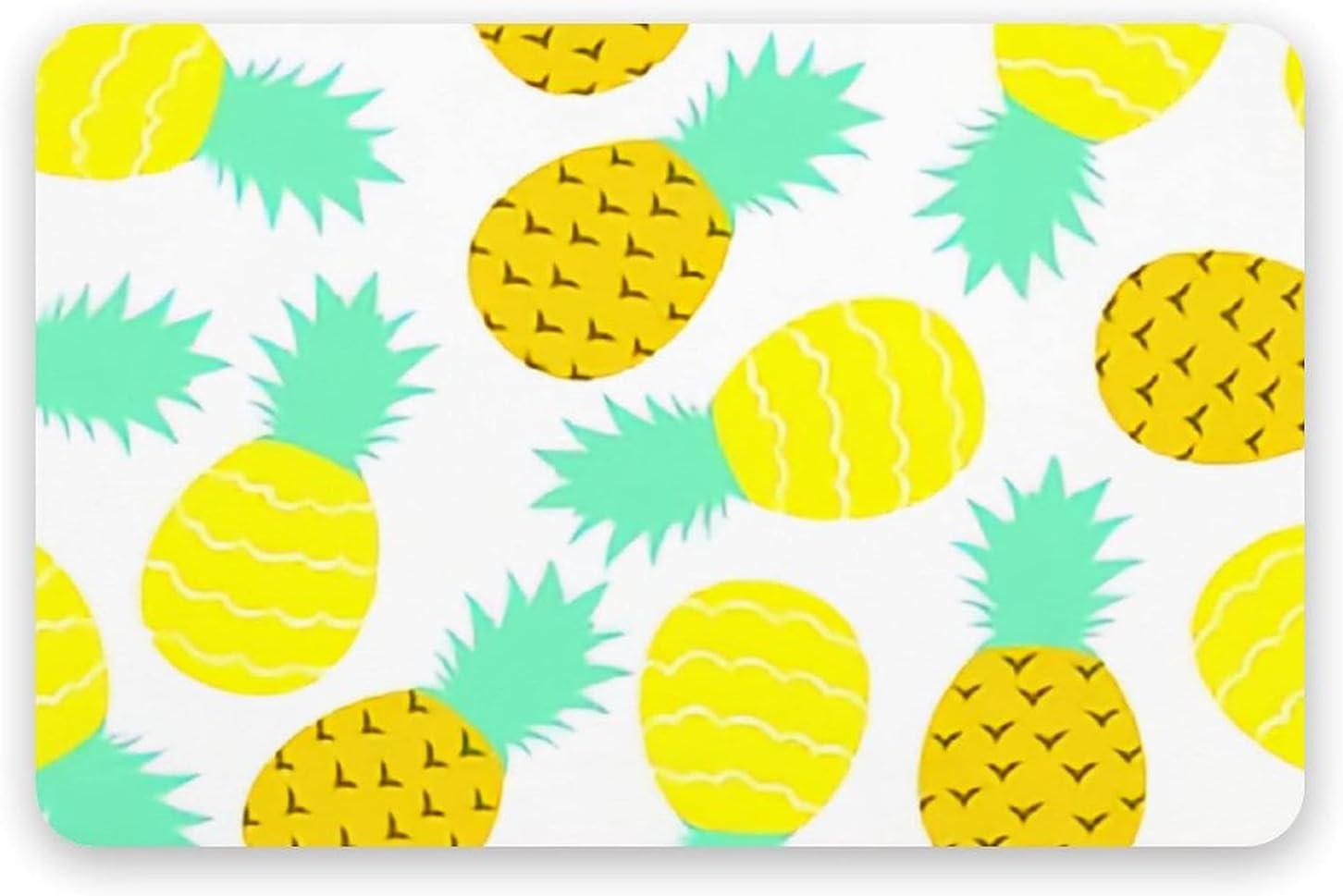 PotteLove Seamless Pattern Pineapple Regular store - Diatomaceous Earth Cheap bargain Bath M