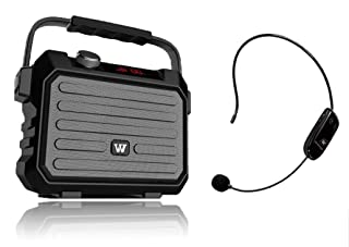 Portable Speaker with Wireless Bluetooth Microphone Headset Rechargeable PA System for Teachers Amplification Outdoor Activity 30W H5