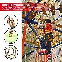 遊び場クライミング ロープ150 Kg 重量ツリー ディスク クライミング ロープ ディスク クライミング ロープ 物理的なゲーム アウトドア パーティー 屋外ゲーム 子供のおもちゃ(green)