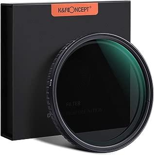 NDフィルター 52mm 可変式 X状ムラなし ND2-ND32減光フィルター 薄型 レンズフィルター K&F Concept【メーカー直営店】