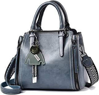 BUKESIYI Damen Tasche Umhängetasche Handtasche Frauen Klein Schultertasche Weekender Lack PU Leder CCDE77139