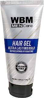 WBM Men Care Styling Hair Gel | Refreshing & Hydrating | for All Hair Types 5.29 fl oz
