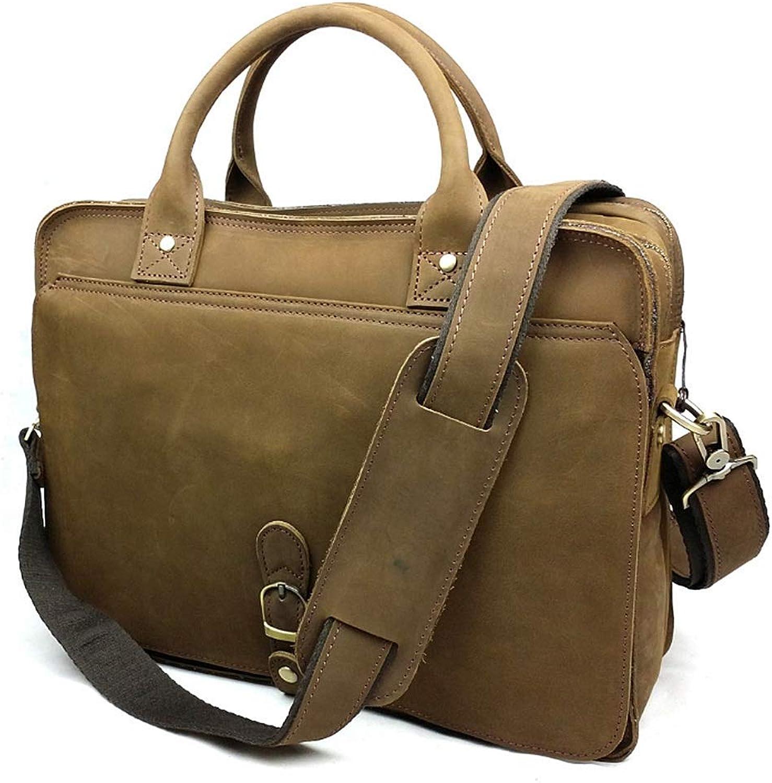 Aktentaschen Gelernt Männer Business Reise Aktentaschen Aus Echtem Leder 2019 Mann Vintage-mode Casual Laptop 15 tote Big Bags Aktentasche Schulter Tasche Herrentaschen