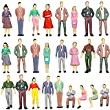 P50 Model Trains Architectural 1:50 Painted Figures O Gauge Sitting and Standing People for Miniatur