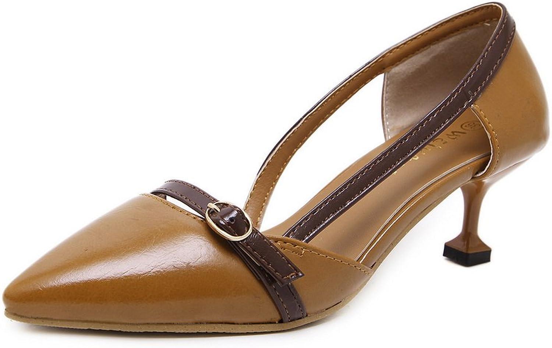 1TO9 Womens Unique Platform Low-Cut Uppers Pointed-Toe Microfiber Pumps shoes