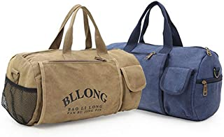 Duffel Bag,Cylindrical Handbag, Luggage, Light Carrying Luggage, Canvas Bag, 20 Inches, Classic Color, Large Capacity, Travel Bag, Lightweight Waterproof, College Bag Business Travel Backpack, Perfect
