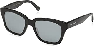 Marc Jacobs Women's Marc 229/S T4 NS8 52 Sunglasses, (Black Glitter/Gy Grey)