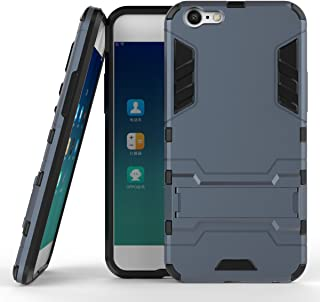 Oppo A39/A57 Case, Hybrid Armor Case [2 in 1] Lightweight Hard PC Cover + Flexible TPU Shock Absorption & Scratch Resistant with Kickstand for Oppo A39/A57 (2017) (5.2 inches) - Blue Black