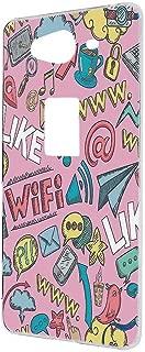 AQUOS ZETA SH-01H ケース ハードケース 【落書き:ピンク】 かわいい アクオス ゼータ スマホケース 携帯カバー [FFANY] social-h190522