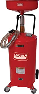 Lincoln 3601 Pressurized Air Operated 18 Gallon Portable Industrial Fluid Drain Tank, Adjustable Funnel Height, Fluid Leve...