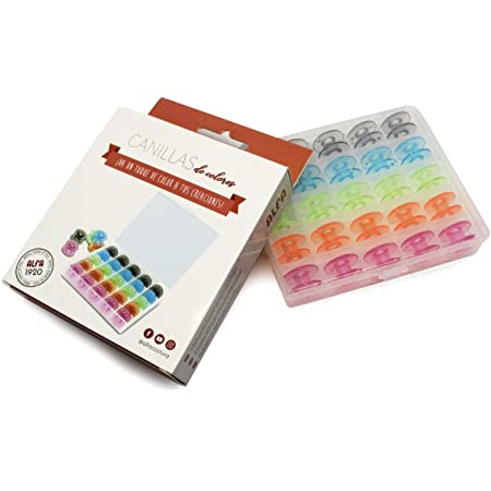 Alfa 6050-Caja 25 canillas Colores, Multicolor, 0