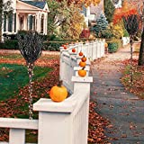 Eki 1PC Halloween LED Lights Pre-Lit Witch's Broomsticks Holiday Decorations Pathway Markers for Walkway, Yard, Lawn (As Shown)