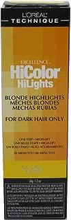 Loreal Excel Hicolor Hilights Natural Blonde 1.2oz (3 Pack)