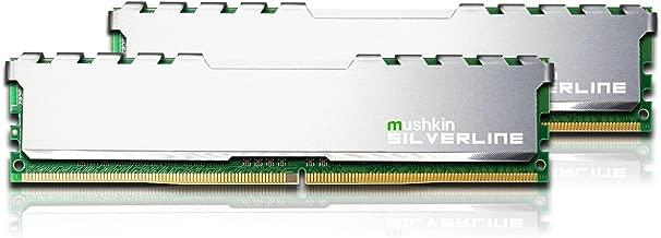 Mushkin SILVERLINE Series – DDR4 Desktop DRAM – 32GB (2x16GB) Memory Kit DIMM – 2133MHz (PC4-17000) CL-15 – 288-pin 1.2V RAM – Non-ECC – Dual-Channel – Stiletto V2 Silver Heatsink – (MSL4U213FF16GX2)