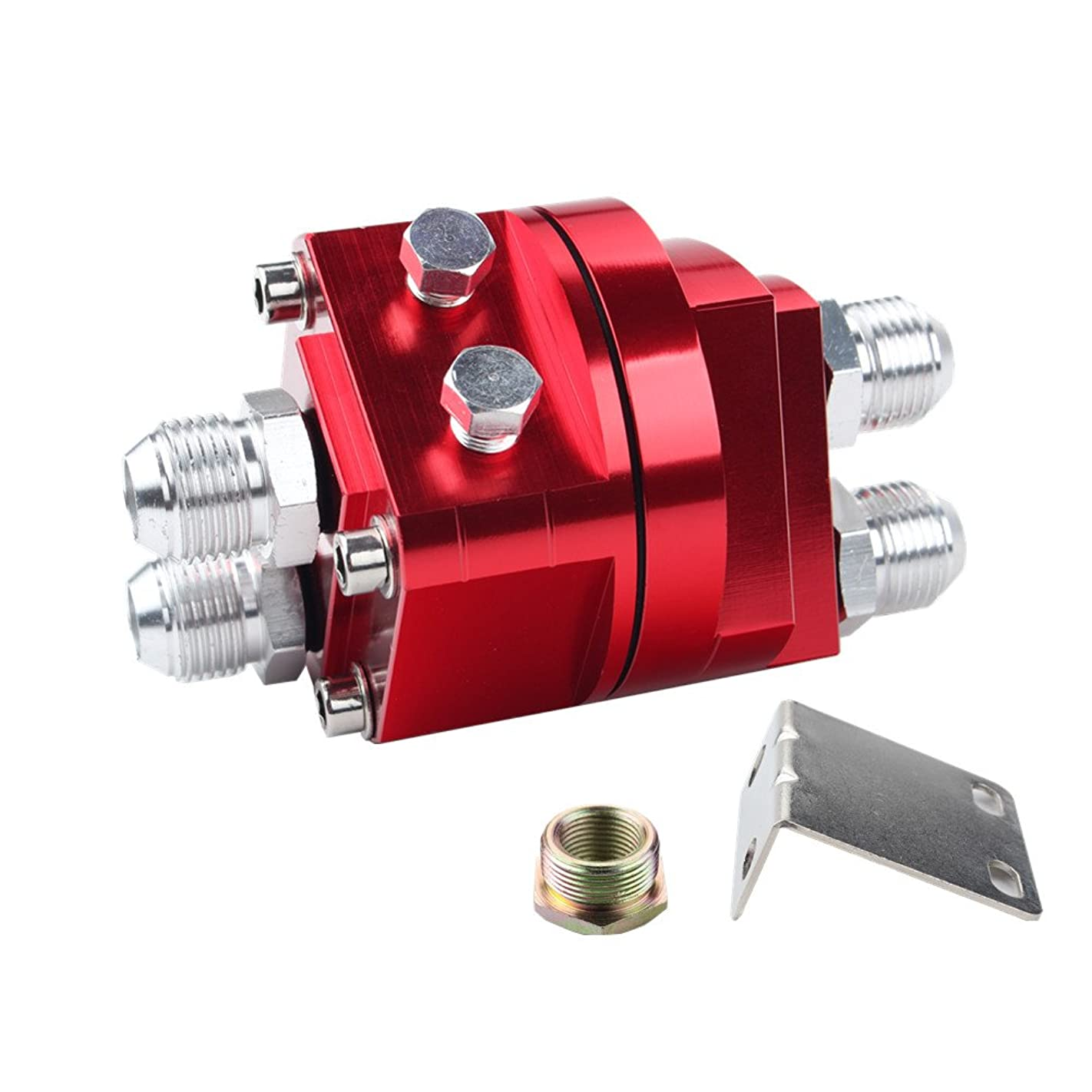 Dewhel OIL Filter Relocation Male Sandwich Fitting Adapter Kit 3/4x16 20x1.5(red) y39391669094