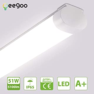 IP65 LED Feuchtraumwanneneuchte 36W 3600LM 120cm 1x WW LED Wannenleuchte Leuchtstofflampe Warmweiss CRI80 G13 LED Feuchtraumleuchte 2x T8 LED