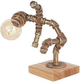Retro industriële bureaulamp ijzer robot pijp bureau bureau retro bureaulamp ijzer water pijp bureaulamp industriële buis ...