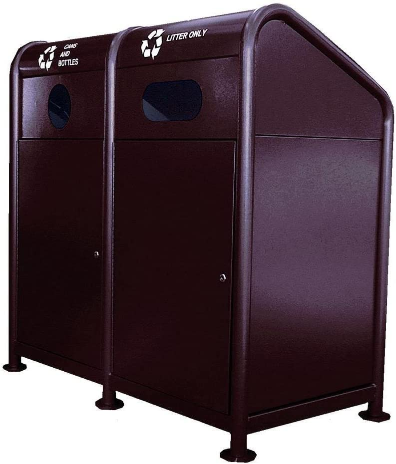 Paris Rare 68 Gal. SEAL limited product Steel 2 Station Stream Brown Recycling in