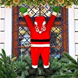 Santa Caus Decoration, 42.51'' x 19.68'' Santa Claus Christmas Ornaments for Hanging Ornament Indoor Outdoor Home Door Wall Windows Car Stairwells Roofs Fireplaces Bars Decoration