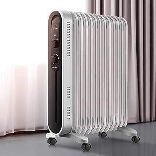 Calentador convector, 13 Aleta calefactor eléctrico portátil, 3 configuraciones de temperatura, termostato y de cierre de seguridad, for la oficina, el hogar o en el dormitorio QIANGQIANG