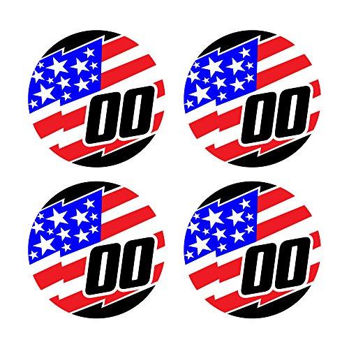 定制棒球球棒贴花设定锯齿状美国国旗设计球棒把手贴纸