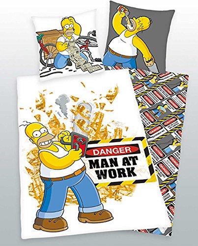 Premiu Herding Wendebettwäsche Bettwäsche 135x200 Simpsons Man At Work incl. Aufbewahrungsbeutel