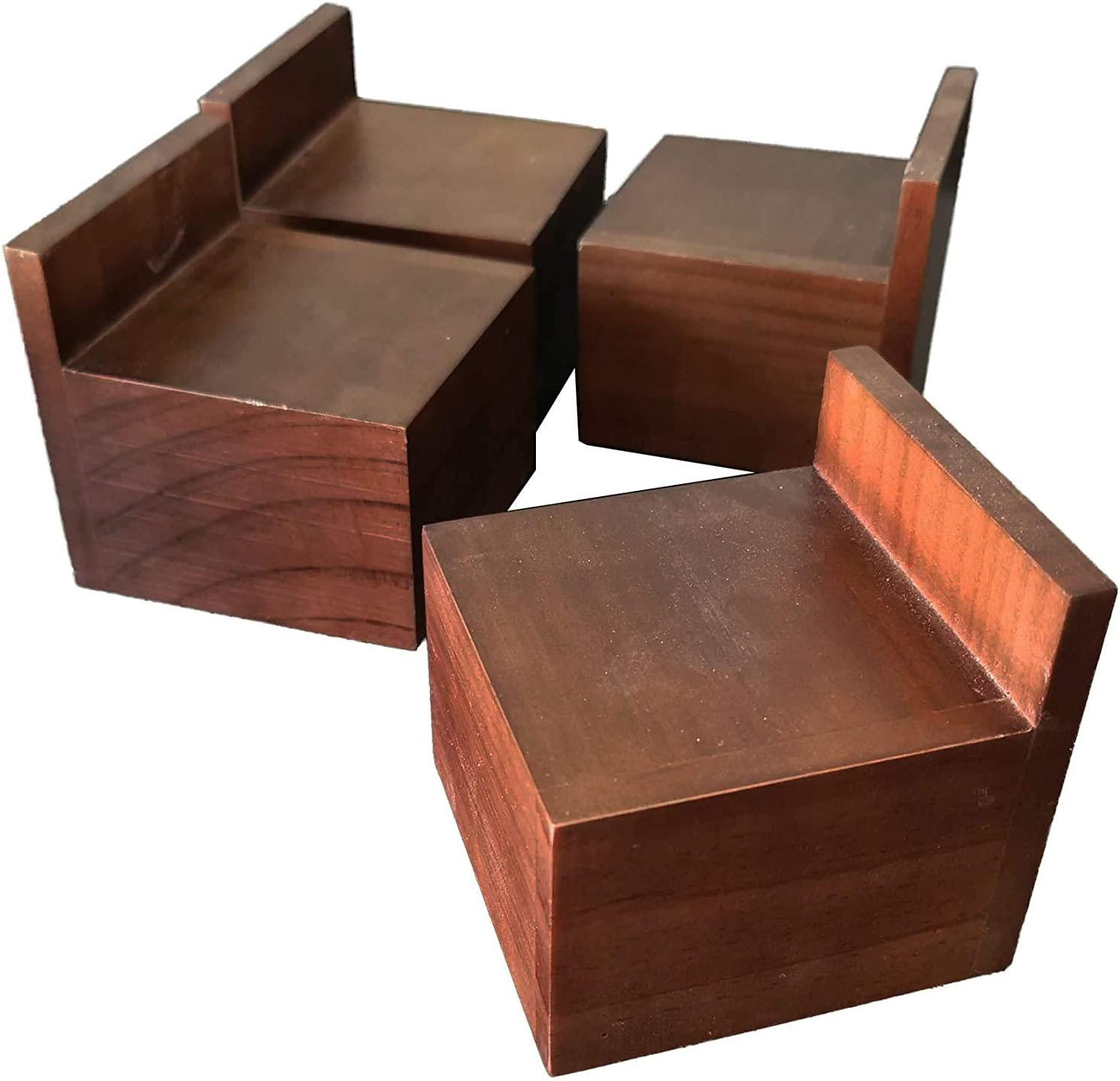 Xinshidai Homewares Pine Wood Bed Lifters, Solid Wood Sofa, Table, Bed Riser, and Furniture Lifter Width 3.4