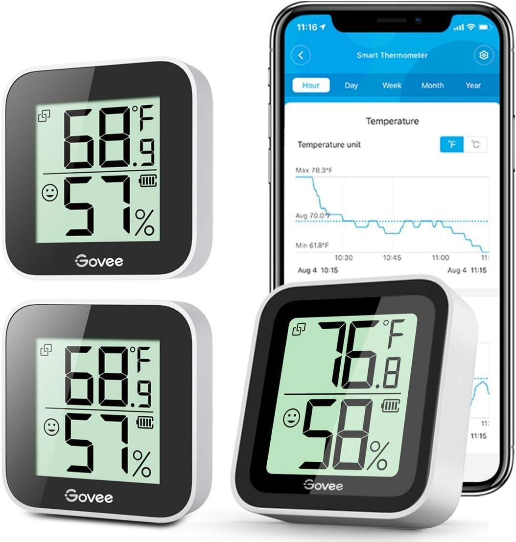 Bombing new work Bundle-3 Items: Govee Temperature Humidity Pack B Mini Sensor 3 Los Angeles Mall