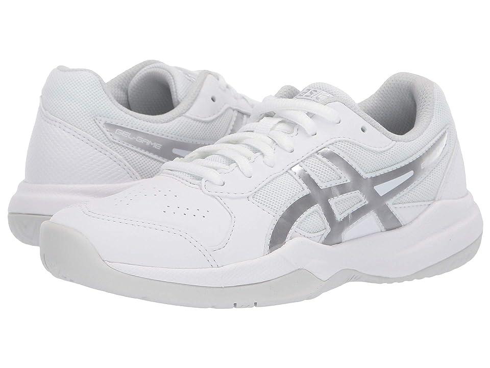 ASICS Kids Gel-Game 7 GS Tennis (Little Kid/Big Kid) (White/Silver) Kids Shoes