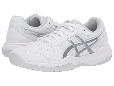ASICS Kids Gel-Game 7 GS Tennis (Little Kid/Big Kid) (White/Silver) Kids Shoes