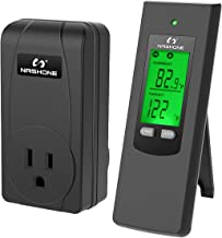 Nashone Wireless Thermostat Outlet, Thermostat Controller for Home, Thermostat Outlet Plug and Wireless Thermostat Built i...