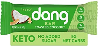 Dang Keto Bar | Toasted Coconut | 12 Pack | Keto Certified, Vegan, Low Carb, Low Sugar, Plant Based, Non GMO, Gluten Free ...