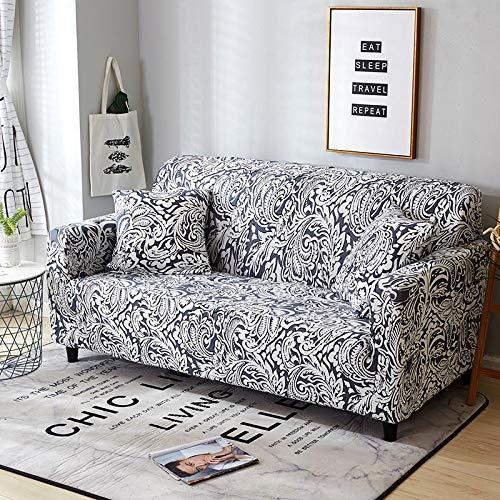 WXQY Funda de sofá Funda de sofá elástica Apretada de sección Transversal elástica Funda de sofá con Todo Incluido decoración de la Sala de Estar Funda de sofá A4 2 plazas