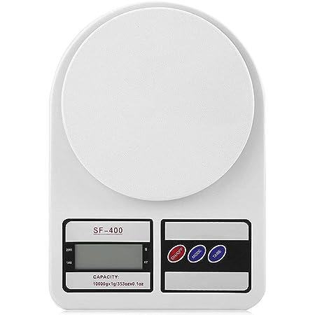 Rpanle Balance de Cuisine Électronique, Balance numérique de Cuisine de Haute Précision, Fonction Tare, 10kg/1g, Balance Alimentaire à Écran LED (Blanc)