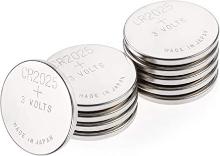 GP Specialty Type 2025 Lithium Coin Battery CR2025/DL2025 - Long-lasting Power with High-purity Lithium (Box of 10)