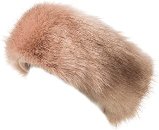 Lucky Leaf Cozy Warm Hair Band Earmuff Cap Faux Fox Fur Headband with Stretch for Women