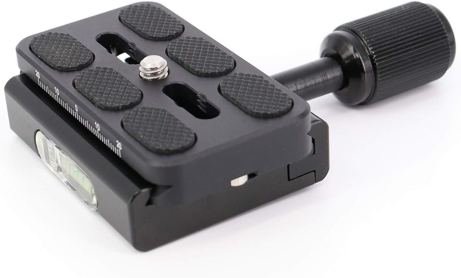 koolehaoda RC2-System Adaptador de liberación rápida para Manfrotto Trípode 200PL-14 compatible Placa de liberación rápida (negro)