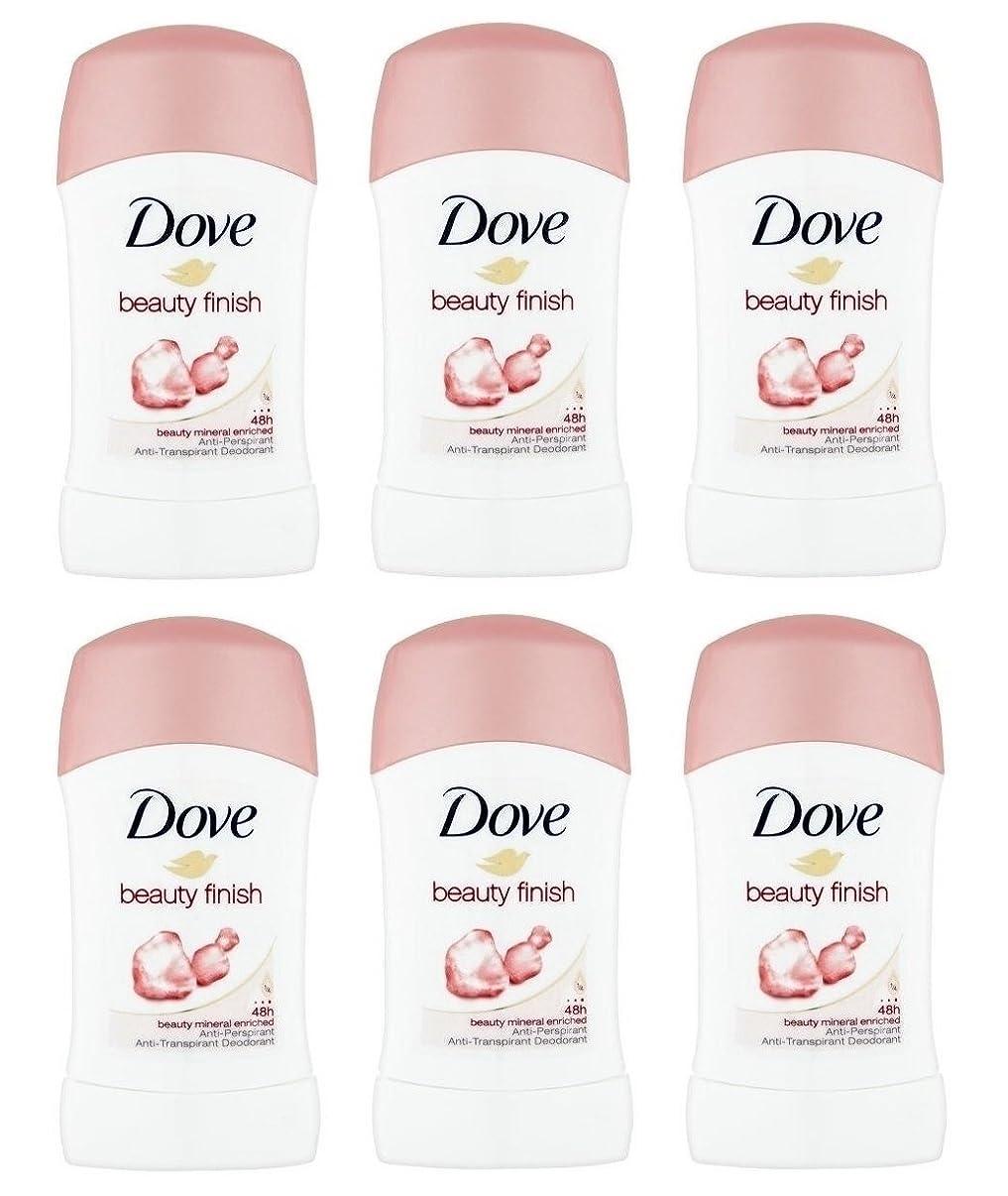 傑作抑制する懐疑的(Pack of 6) Dove Beauty Finish Anti-perspirant Deodorant Stick for Women 6x40ml -(6パック)ドーブ美しさ仕上げ制汗剤デオドラント女性のためのスティック