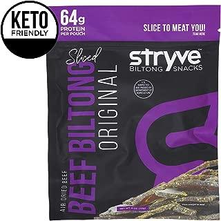Stryve Biltong | Healthy Keto & Paleo Friendly Air-Dried Beef Snacks | 50% More Protein Than Beef Jerky, Gluten Free, Low Carb, Sugar Free, No Nitrates, No Preservatives, No MSG | Original, 4oz