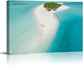 NWT Canvas Wall Art Blue Clear Sea Water Beach Painting Artwork for Home Prints Framed - 16x24 inches