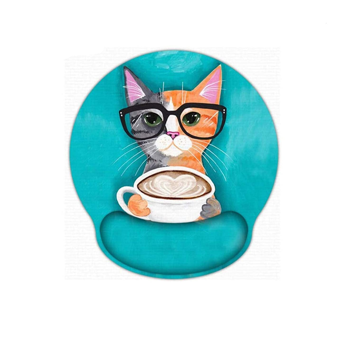 CQIANG Mouse Pad, Artificial Creative Office Wristband, Memory Cotton Wrist Pad, Thickened Game Pad, Best Gift Ergonomically Designed for a More Comfortable offi (Color : Cat)