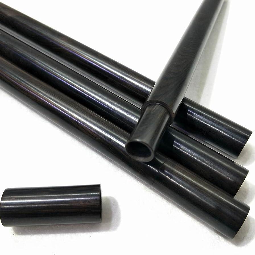上にフルート専門化する黑檀モッコウ筒棒香瀋香収納管 10g線香管