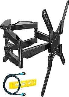 Invision Support TV Mural pour Écrans de 24 à 55 Pouces (61-140 cm), Max VESA 400x400mm, Inclinable Orientable Étendre Dou...