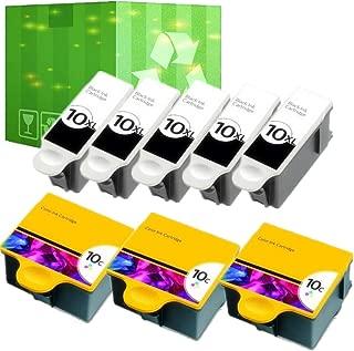J2INK 8 Pack 10 XL Ink Cartridges for Kodak ESP 5210 7250 3250 5250 9 5 7 9250 Printer