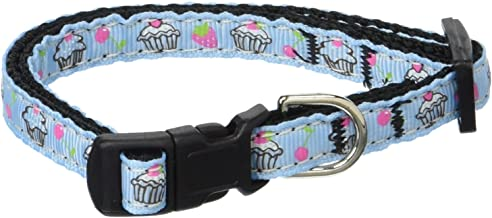 """OmniPet Signature Leather Safety Stretch Cat Collars with Bell, Emerald, 8-10"""""""